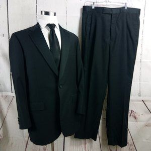 Brooks Brothers 1818 44L Black Tuxedo 2pc Suit